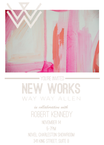 Way Way New Works Invite